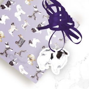 Japanese Chin – Shaped Gift Tags (Pack of Three)