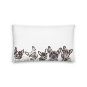Frenchie Kissing in the USA – Long Pillow