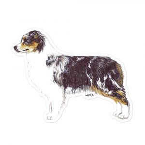 Australian Shepherd – Blue Merle – Breed Shape Stickers
