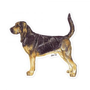 Bloodhound – Breed Shaped Stickers