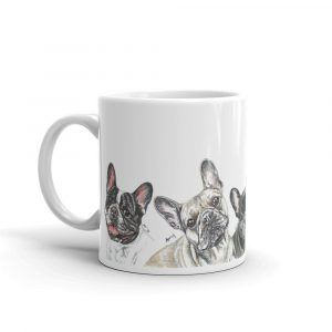 Frenchie Kissing in the USA – Mug