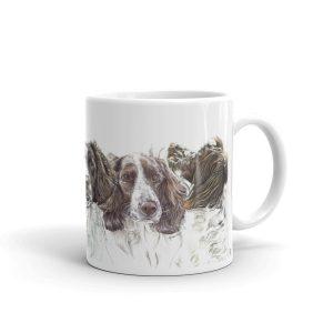 Springers on a Spree – White glossy mug