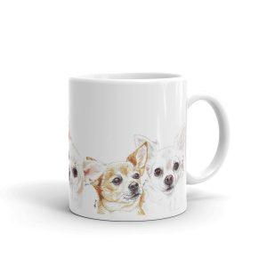 Cha Cha Chihuahua – White glossy mug