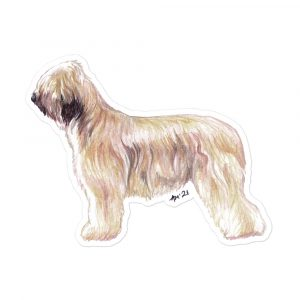 Briard – Breed Shaped Stickers