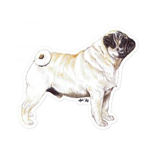 Pug – Breed Shaped Stickers