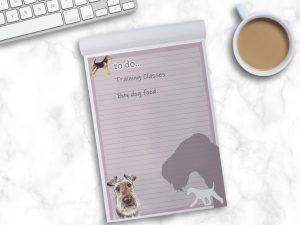 Airedale Terrier – To Do List Pad