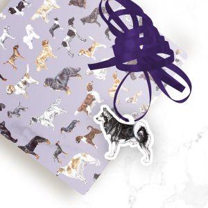 Alaskan Klee Kai – Shaped Gift Tags (Pack of Three)