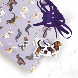 Basset Hound – Shaped Gift Tags (Pack of Three)
