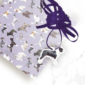Boston Terrier – Shaped Gift Tags (Pack of Three)