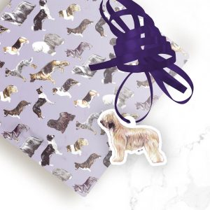 Briard – Shaped Gift Tags (Pack of Three)