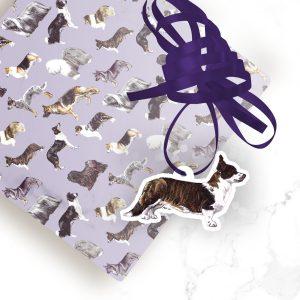Welsh Cardigan Corgi Brindle – Shaped Gift Tags (Pack of Three)