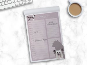 Chinese Crested – Daily Planner Pad
