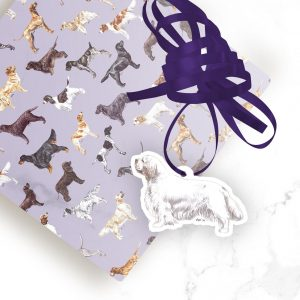 Clumber Spaniel – Shaped Gift Tags (Pack of Three)