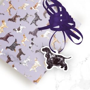 Cocker Spaniel Blue Roan – Shaped Gift Tags (Pack of Three)