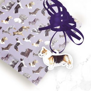 Pembroke Welsh Corgi – Shaped Gift Tags (Pack of Three)