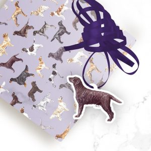Curly Coated Retriever – Shaped Gift Tags (Pack of Three)