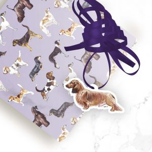 Dachshund Long Haired Tan – Shaped Gift Tags (Pack of Three)