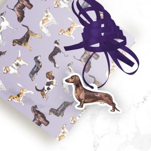 Dachshund Smooth – Shaped Gift Tags (Pack of Three)
