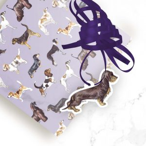 Dachshund Wire Haired Liver & Tan – Shaped Gift Tags (Pack of Three)