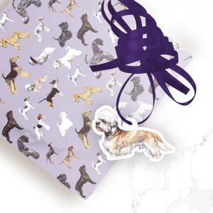 Dandie Dinmont Terrier – Shaped Gift Tags (Pack of Three)