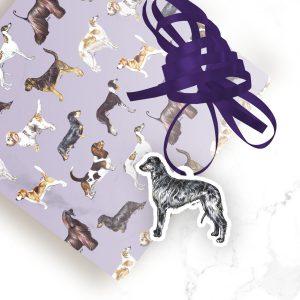 Scottish Deerhound – Shaped Gift Tags (Pack of Three)