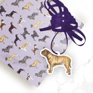 Dogue de Bordeaux – Shaped Gift Tags (Pack of Three)