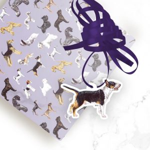 English Bull Terrier – Shaped Gift Tags (Pack of Three)