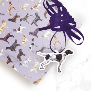 English Pointer – Shaped Gift Tags (Pack of Three)