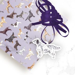 English Setter – Shaped Gift Tags (Pack of Three)