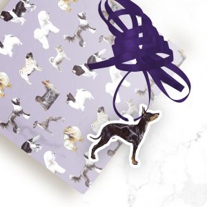 English Toy Terrier – Shaped Gift Tags (Pack of Three)