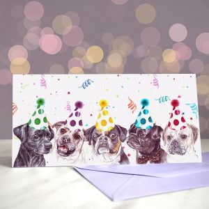 Every Day I'm Pugglin' Greeting Card