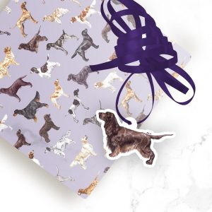 Field Spaniel – Shaped Gift Tags (Pack of Three)