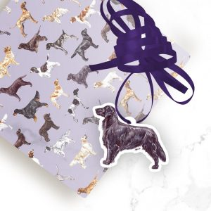 Flat Coated Retriever – Shaped Gift Tags (Pack of Three)
