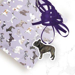 French Bulldog – Shaped Gift Tags (Pack of Three)