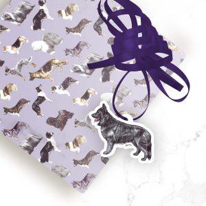 German Shepherd Black – Shaped Gift Tags (Pack of Three)