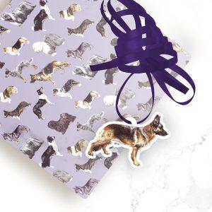 German Shepherd 1 – Shaped Gift Tags (Pack of Three)