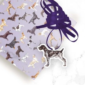 German Wire Haired Pointer – Shaped Gift Tags (Pack of Three)