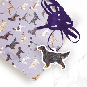 Gordon Setter – Shaped Gift Tags (Pack of Three)