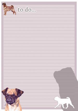 Griffon Bruxellois Smooth – To Do List Pad