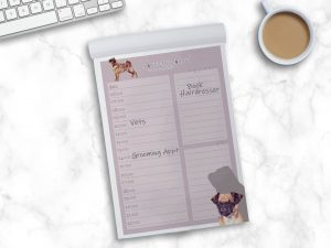 Griffon Bruxellois Smooth – Daily Planner Pad
