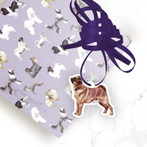 Griffon Bruxellois Smooth – Shaped Gift Tags (Pack of Three)
