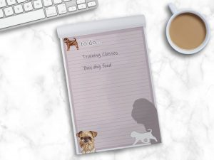 Griffon Bruxellois Wire – To Do List Pad