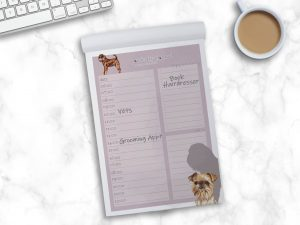 Griffon Bruxellois Wire – Daily Planner Pad