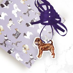 Griffon Bruxellois Wire – Shaped Gift Tags (Pack of Three)