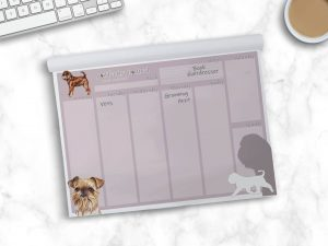 Griffon Bruxellois Wire – Weekly Planner