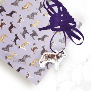 Siberian Husky – Shaped Gift Tags (Pack of Three)