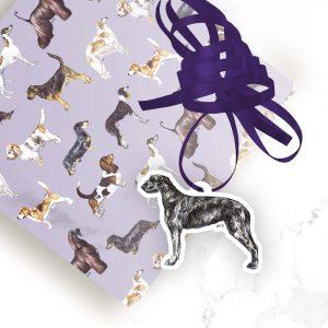 Irish Wolfhound – Shaped Gift Tags (Pack of Three)