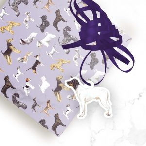 Japanese Terrier – Shaped Gift Tags (Pack of Three)