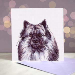 Keeshond – Greeting Card