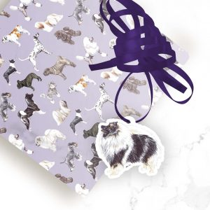 Keeshond – Shaped Gift Tags (Pack of Three)